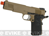 WE-USA NG3 Full Metal 1911 MEU Standard Heavy Weight Airsoft Gas Blowback Pistol - Dark Earth