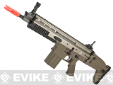 z FN Herstal Full Metal SCAR MK17 CQB Full Metal Airsoft AEG Rifle by WE-Tech - Dark Earth