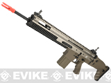 z FN Herstal Full Metal SCAR MK17 SSR Full Metal Airsoft AEG Rifle by WE-Tech - Dark Earth