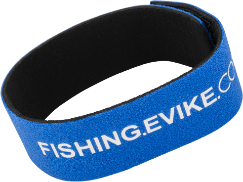 FISHING.EVIKE.COM Snake Skin Multi-Rod Hook & Loop Fishing Rod Strap