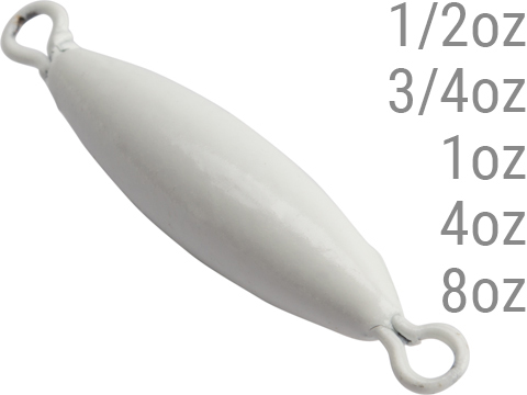 Battle Angler Luminous Glow Double Ring Torpedo Lead Weight Sinker (Size: 0.5oz / 20 Pack)
