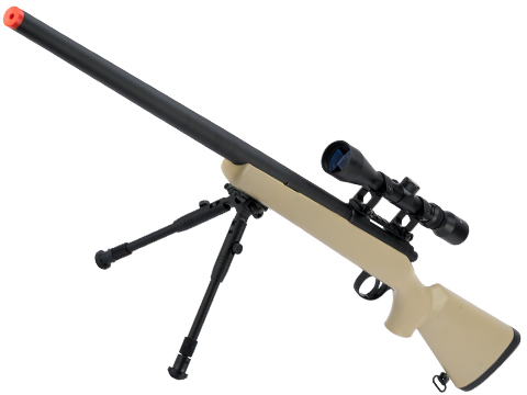 Matrix VSR-10 MB03 Bolt Action Airsoft Sniper Rifle by WELL (Color: Desert Tan)