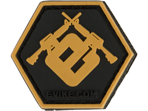 Operator Profile PVC Hex Patch Evike Series (Style: Evike E Gold)