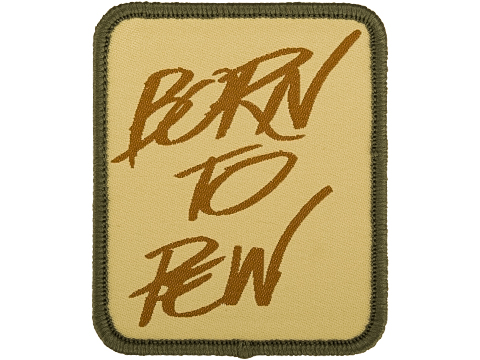 Evike.com Born to Pew Woven Morale Patch (Color: Camo)