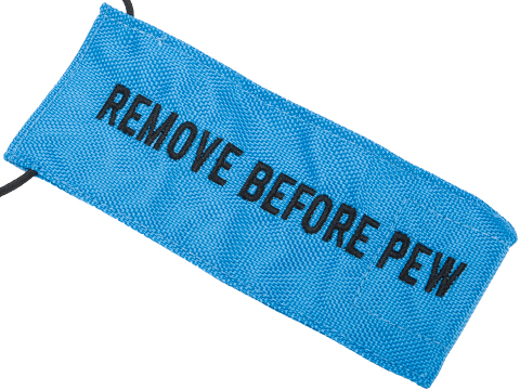 Evike.com Remove Before Pew Tactical Airsoft Barrel Cover (Color: Blue / Large)