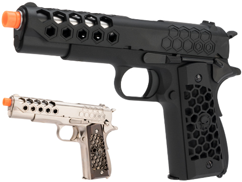 WE-Tech 1911 Hex Cut Gen. 2 Gas Blowback Airsoft Pistol (Color: Black)