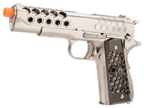 WE-Tech 1911 Hex Cut Gen. 2 Gas Blowback Airsoft Pistol (Color: Silver)