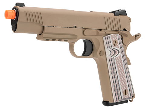 WE-Tech Full Metal 1911 M45A1 Gas Blowback Airsoft GBB Pistol (Color: Tan)
