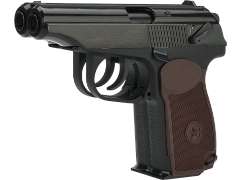 WE-Tech Double Barrel Russian PM Full Metal Gas Blowback Airsoft Pistol