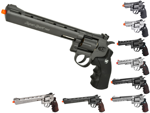 WG CO2 Full Metal High Power Airsoft 6mm Magnum Gas Revolver (Length: 4 / Black)