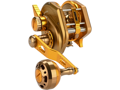 Jigging Master Wiki Violent Slow Lever Wind Fishing Reel w/ Automatic Line Guide (Model: 3000XH Right Gold)