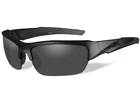 Wiley X WX Valor Polarized Changeable Sunglasses (Color: Black Ops / Polarized Smoke Grey Lens / Matte Black Frame)