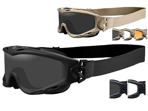 c1c89774c Wiley X Spear Tactical Goggle (Color  Smoke Grey and Clear Lens w  Matte  Black Frame)