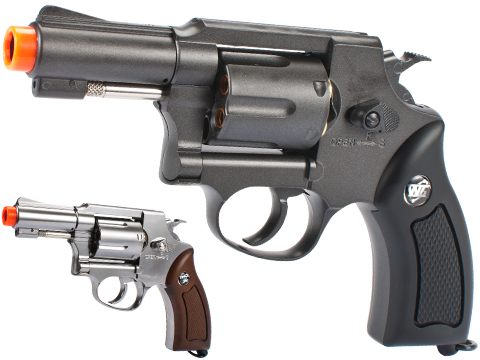 G731 Full Metal CO2 Gas Airsoft Revolver by Win Gun (Color: Black)
