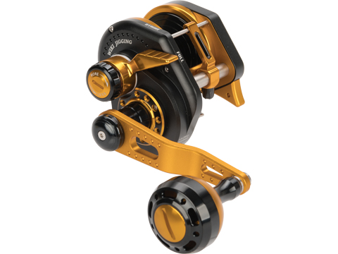 Jigging Master Wiki Violent Slow Lever Wind Fishing Reel w/ Automatic Line Guide (Model: 1500XH Right Black)
