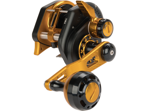 Jigging Master Wiki Violent Slow Lever Wind Fishing Reel w/ Automatic Line Guide (Model: 1500XH Left Black)