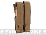 Matrix Airsoft SMG Double Magazine MOLLE Pouch (Color: Coyote Brown)