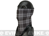 Bobster / Zan Headgear Cozy Fleece Combat Lower Face / Neck Gaiter - Skull Plaid