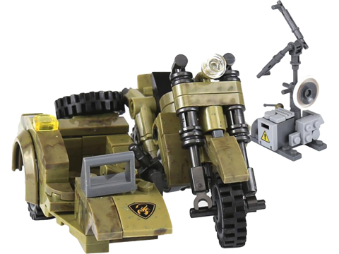 XingBao Collectible Building Block Set (Style: Military Scout Motorcycle with Sidecar)
