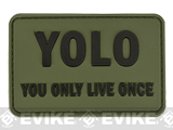 YOLO 'You Only Live Once' Tactical PVC Morale Patch (Color: Green)