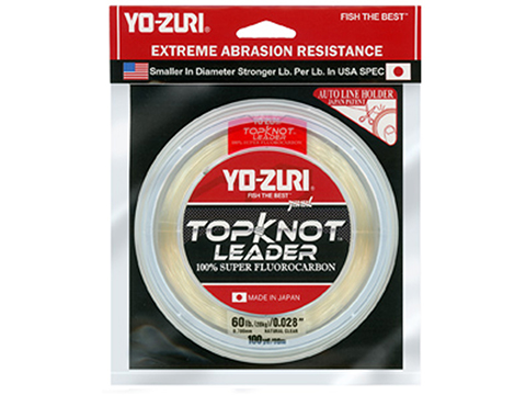 Yo-Zuri TopKnot Super Fluorocarbon Leader (Test: 50 Pound / 30 Yard Pink)