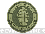 Matrix PVC Hook and Loop IFF Patch - Don't Run, You'll Only Die Tired OD Green