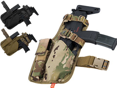 EmersonGear Drop Leg MP7 Holster with Magazine Pouch