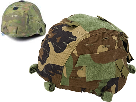Emerson Gen II Style Combat Helmet Cover for MICH / ACH / TC-2000 Protective Combat Helmet Series (Color: Woodland)