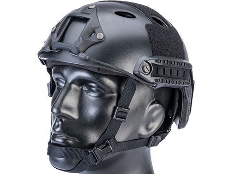 6mmProShop Advanced PJ Type Tactical Airsoft Bump Helmet (Color: Black / Medium - Large)