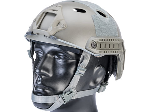 6mmProShop Advanced PJ Type Tactical Airsoft Bump Helmet (Color: Foliage Green / Medium - Large)