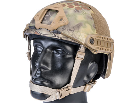 6mmProShop Advanced High Cut Ballistic Type Tactical Airsoft Bump Helmet (Color: Kryptek Mandrake / Medium - Large)