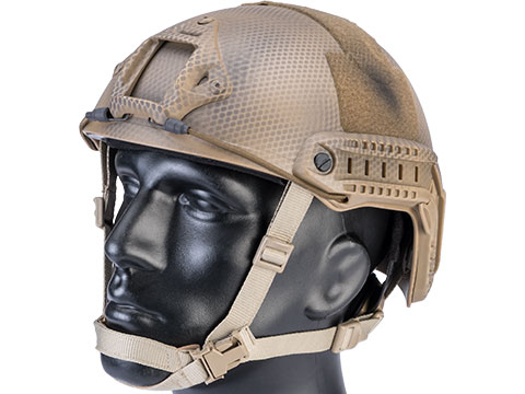6mmProShop Advanced High Cut Ballistic Type Tactical Airsoft Bump Helmet (Color: Tan Navy Seal / Medium - Large)