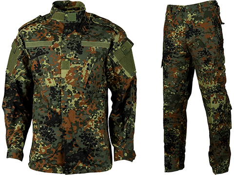 Emerson R6 German BDU Field Uniform Set (Color: German Flecktarn Camo / X-Large)