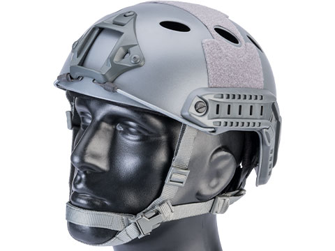 6mmProShop Advanced PJ Type Tactical Airsoft Bump Helmet (Color: Wolf Grey / Medium - Large)