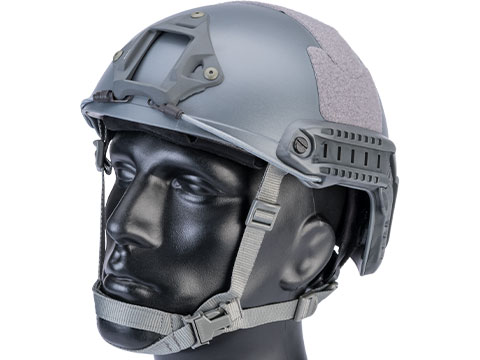 6mmProShop Advanced High Cut Ballistic Type Tactical Airsoft Bump Helmet (Color: Wolf Grey / Medium - Large)