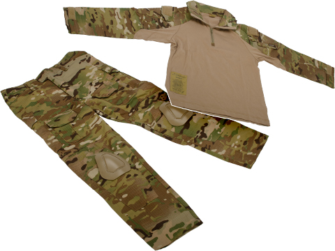 EmersonGear Combat Uniform Set for Kids w/ Knee Pad Inserts (Size: 11-12Y / Multicam)