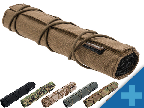 EmersonGear Cordura 22cm Airsoft Suppressor Cover (Color: Coyote Brown)