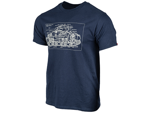 EmersonGear Military Culture Sherman X-Ray T-Shirt (Color: Blue / Large)