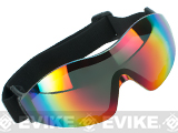Global Vision Z-33 ANSI Z87.1 Rated Anti-Fog Safety Shooting Goggle - Rainbow Mirrored Lens