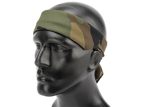Zan Headgear 100% Cotton Bandana (Color: Woodland Camo)
