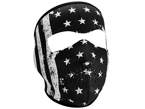 Bobster / Zan Headgear Neoprene Full Face Mask (Color: Black & White Vintage Flag)