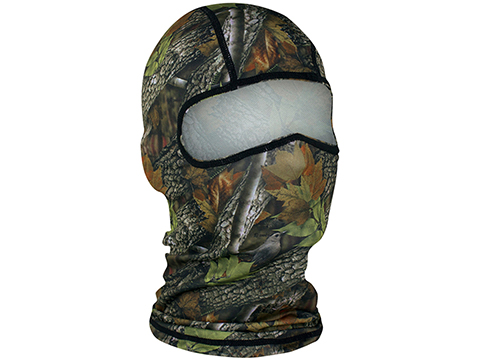 Zan Headgear Ultra Light Weight Polyester Balaclava (Color: Forest Camo)