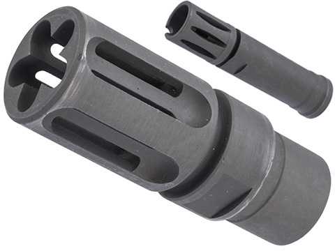 ZCI 14mm Negative Steel Flash Hider for M4 / M16 AEG Rifles