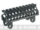 Zenimei CNC Aluminum AK74 Tactical Railed Handguard Top for AK AEG / GBB Rifles - Black