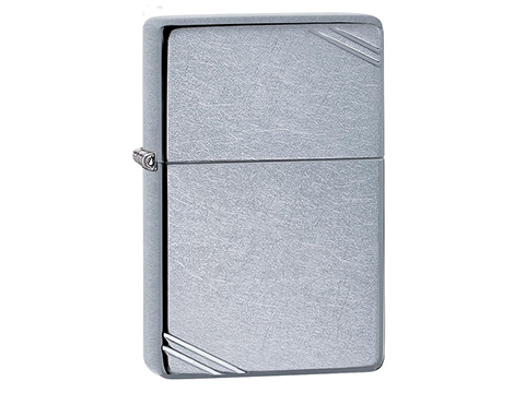Zippo Vintage Series with Slashes (Color: Street Chrome)