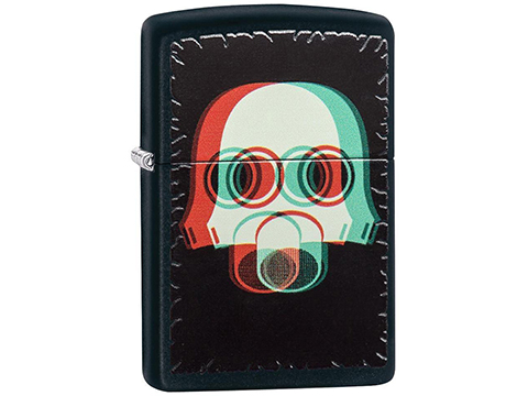 Zippo Classic Lighter Graphics Series (Model: Nuclear Mask 3D)