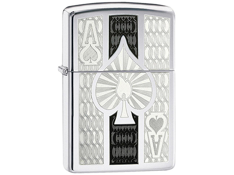 Zippo Classic Lighter (Model: Ace / High Polish Chrome)