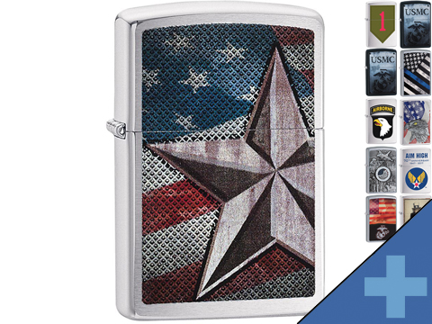 Zippo Classic Lighter Patriotic Series (Model: Retro Star)