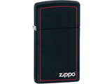 Zippo Slim Classic Lighter - Black & Red