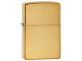 Zippo Classic Lighter Solid Color Series (Model: Brushed Brass)